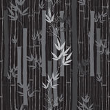 Seamless  bamboo pattern.  Black and white  illustration. Royalty Free Stock Images