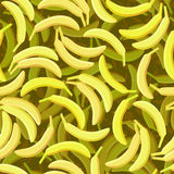 Seamless banana background Stock Photo