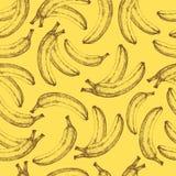 Seamless banana pattern  Royalty Free Stock Images