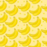 seamless bananmodell ändlös bakgrund, textur Bär frukt bakgrundvektorillustrationen Royaltyfri Bild