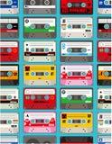 seamless band för musik vektor illustrationer
