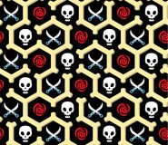 Seamless bandit theme pattern Stock Photos