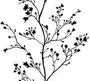 Seamless banner branches silhouette background Royalty Free Stock Images
