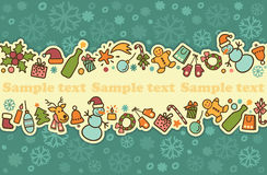 Seamless banner on a theme of New Year and Christm Royalty Free Stock Image