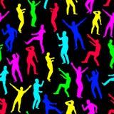 seamless barn för dansbildmän Arkivbild