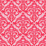 Seamless baroque damask background Stock Photography