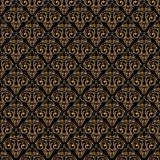 Seamless baroque damask golden background Stock Image