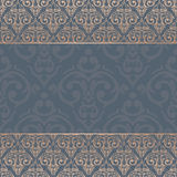 Seamless baroque damask luxury background Stock Images