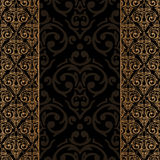 Seamless baroque damask luxury border Stock Photos