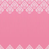 Seamless baroque damask pink background Royalty Free Stock Images