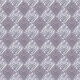 Seamless baroque damask purple background Royalty Free Stock Photos
