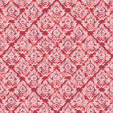 Seamless baroque damask red background Royalty Free Stock Photography