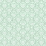 Seamless baroque damask turquoise background Stock Images