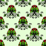 Seamless baroque floral ornament Stock Images