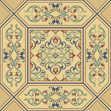 Seamless baroque golden pattern. Traditional classic orient ornament. royalty free illustration