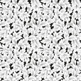 Seamless baroque leaves black floral background Royalty Free Stock Photography