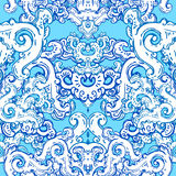 Seamless  baroque pattern Stock Photo