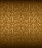 Seamless Baroque Pattern. The vector pattern is seamless, remove the gradient first Stock Image