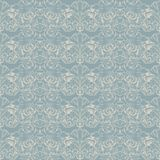 seamless Baroque pattern in light blue and white stock illustration