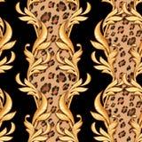 Seamless baroque pattern 1 stock illustration