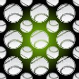 Seamless baseball balls Stock Image