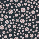 Seamless baseball balls pattern background softball american play game equipment vector illustration. Stock Photos