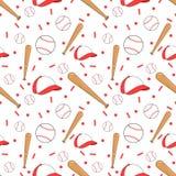 Seamless baseball pattern Stock Image