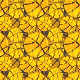 Seamless basketball ball abstract texture orange pattern Royalty Free Stock Photos