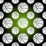 Seamless basketball balls Stock Image