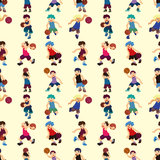 Seamless basketball pattern Stock Images