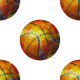 Seamless basketball pattern Royalty Free Stock Image