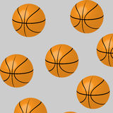 Seamless basketball pattern Royalty Free Stock Photos