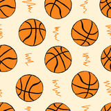 Seamless basketballs Stock Image