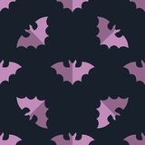 Seamless bat background tile halloween pattern Royalty Free Stock Photography