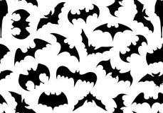 Seamless bats background. Isolated on white Stock Photo