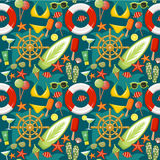 Seamless beach pattern Stock Images
