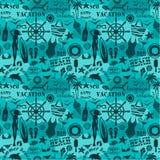 Seamless beach pattern. Royalty Free Stock Photo