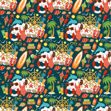 Seamless beach pattern. Stock Images