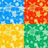 Seamless Beach Vector Pattern royalty free illustration