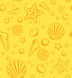 Seamless Beach Vector Pattern Royalty Free Stock Images