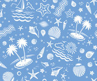 Free Seamless Beach Vector Pattern Royalty Free Stock Photos - 9904918