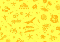 Seamless Beach Vector Pattern Royalty Free Stock Image