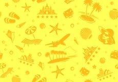 Seamless Beach Vector Pattern stock illustration