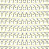 Seamless bear face pattern background Royalty Free Stock Photo