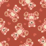 Seamless bear patchwork pattern. Royalty Free Stock Photography