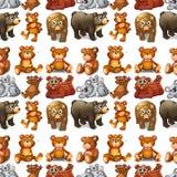 Seamless bears Stock Photo