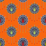 Seamless beautiful antique art deco pattern ornament. Geometric Stock Photography