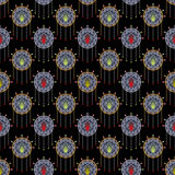 Seamless beautiful antique art deco pattern ornament Royalty Free Stock Photography