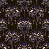 Seamless beautiful antique art deco pattern ornament. Geometric Royalty Free Stock Photography