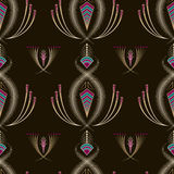 Seamless beautiful antique art deco pattern ornament. Geometric Stock Image